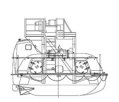 36 man lifeboat capsule