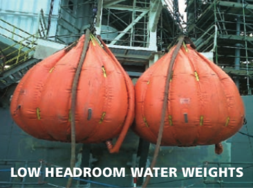 low headroom water weights