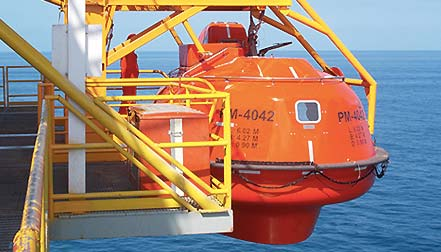 lifeboat capsule offshore rig platform
