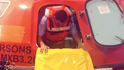 survival systems lifeboat capsule access