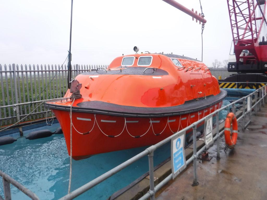 lifeboat capsule pond testing