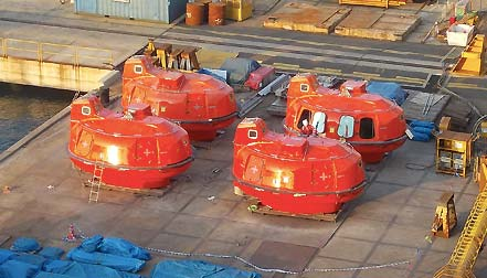 lifeboat deck cradles