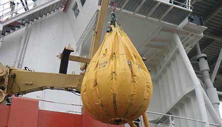 cruise lifeboat testing equipment