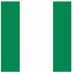 nigeria flag circular